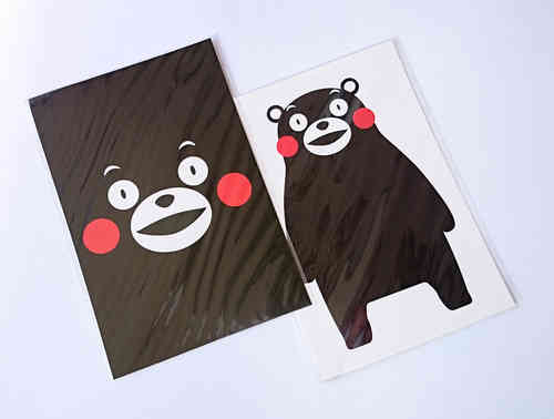 KUMAMON post cards 2 pcs set
